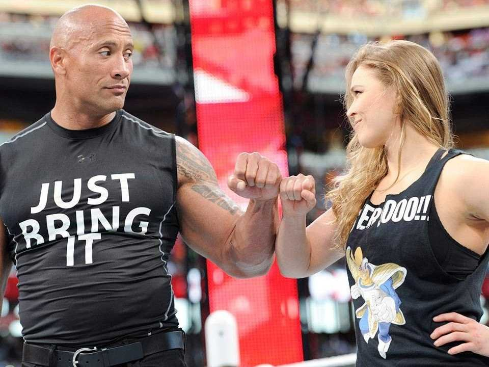 rousey and the rock